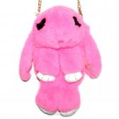 """Меховая сумка рюкзак """"Кролик"""" (розовый)"""