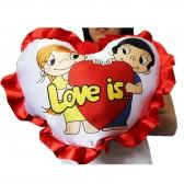"""Подушка с рюшками """"Love"""""""