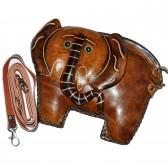 Мужская сумка из кожи слона