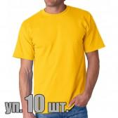 Футболки Lyon (Индия), цвет желтый, упаковка 10 шт.