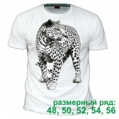 """Футболка """"Белый леопард"""" (размерный ряд)"""