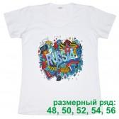 """Футболка женская """"Russia Collage"""" (размерный ряд)"""