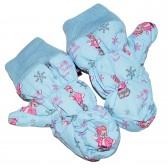 """Варежки детские """"Pink teddy bear"""" (l-blue)"""