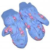 "Варежки детские ""Pink teddy bear"" (blue)"