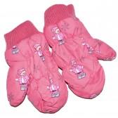 """Варежки детские """"Pink teddy bear"""" (crimson)"""
