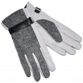Перчатки мужские, комбинированные (l-gray)