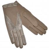 Перчатки женские, серые, комбинированные