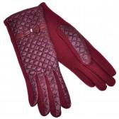 Перчатки женские, комбинированные -10