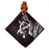 """Полотенце с головой собаки, кухонное, махровое """"Взглад овчарки"""", цвет медный"""