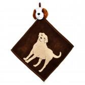 """Полотенце с головой собаки, кухонное, махровое """"Верный товарищ"""", цвет коричневый"""