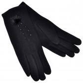 Перчатки женские, трикотажные -04
