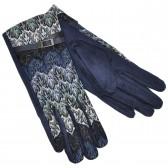 Женские перчатки для сенсорных экранов, комбинированные (blue)