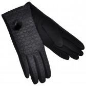 Перчатки женские для сенсорных экранов, комбинированные (black)