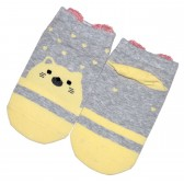 """Носки детские, короткие """"Котик"""" (yellow)"""