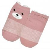 """Носки детские, короткие """"Мишка"""" (pink)"""