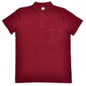 Поло пике с карманом (Turon), бордовый