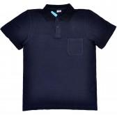 Поло пике с карманом (Turon), темно-синий