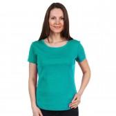 Женская однотонная футболка из хлопка, морского цвета (эконом)