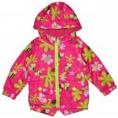 """Куртка-ветровка детская с подкладкой """"Пчелка и бабочка"""" (темно-розовый)"""