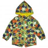 """Куртка-ветровка детская с подкладкой """"Баскетбольный мяч"""" (зеленый)"""