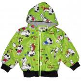 """Куртка-ветровка детская с подкладкой """"I love snoopy"""" (зеленый)"""