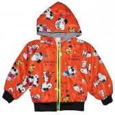 """Куртка-ветровка детская с подкладкой """"I love snoopy"""" (оранжевый)"""