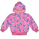 """Куртка-ветровка детская с подкладкой """"Бабочка"""" (розовый)"""