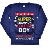 """Толстовка детская """"Super champion boy"""" (d-blue)"""