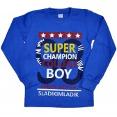 """Толстовка детская """"Super champion boy"""" (blue)"""