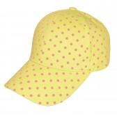 Бейсболка женская, в горошек (желтый)