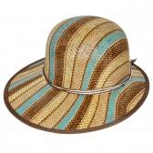 """Шляпа женская, плетеная """"Яркие полосы"""" -19"""