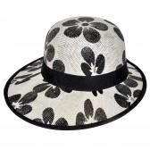 "Шляпа женская, плетеная ""Цветы"" -04"