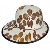 "Шляпа женская, плетеная ""Цветы"" -05"