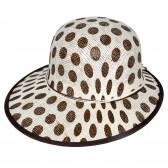 """Шляпа женская, плетеная """"Горох"""" -06"""
