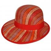 """Шляпа женская, плетеная """"Яркие полосы"""" -20"""