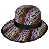 """Шляпа женская, плетеная """"Яркие полосы"""" -21"""