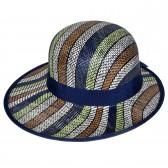 """Шляпа женская, плетеная """"Яркие полосы"""" -23"""