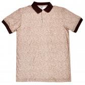 "Рубашка-поло ""Doston"" (коричневый, меланж)"