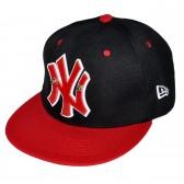 """Бейсболка """"New York"""" (black/red)"""