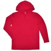 Кофта мужская с капюшоном, красная