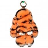 """Меховой брелок """"Зайчик"""" (кролик) 18 см на сумку -87"""