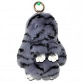 """Меховой брелок """"Зайчик"""" (кролик) 18 см на сумку -89"""