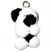 """Меховой брелок """"Панда"""" (кролик) 18 см на сумку -02"""