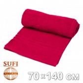 Полотенце махровое, банное SUFI (Индия), бордовый
