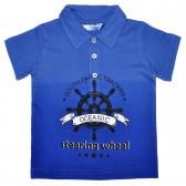"""Рубашка-поло детская """"Oceanic steering wheel"""""""