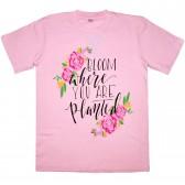 "Футболка детская ""Bloom where you are planted"" для девочки"