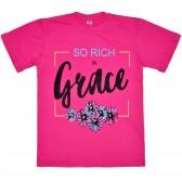 "Футболка детская ""So rich in grace"" для девочки"