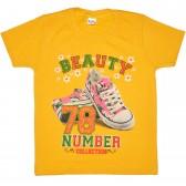 """Футболка детская """"Beauty 78 number"""" для девочки (желтый)"""