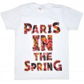 """Футболка детская """"Paris in the spring"""" для девочки (белый)"""