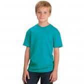 Футболка подростковая, однотонная, цвет бирюзовый